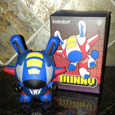 Kidrobot x Transformers Thundercracker Inspired Flight 3″ Dunny Blue Chase by kaNO