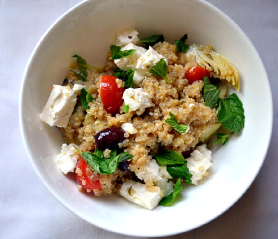 Greek Infused Quinoa Salad for Passover | The Little ...