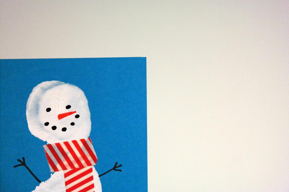 Snowman Footprint Christmas Cards