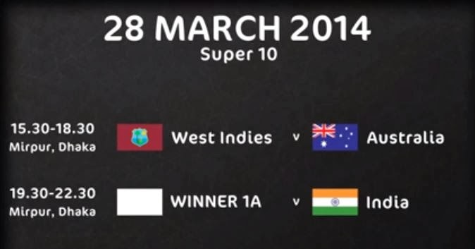 ICC T20 2014 World Cup Schedule , Fixtures and Teams