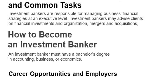 Investment Banker Job Description Internship Interview Questions