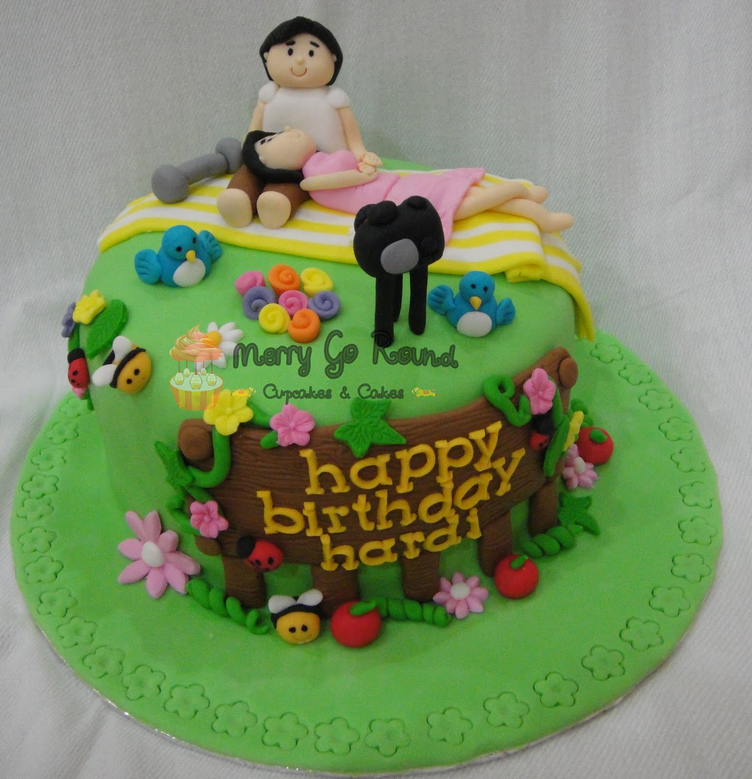 images of cakes with garden theme - photo #45