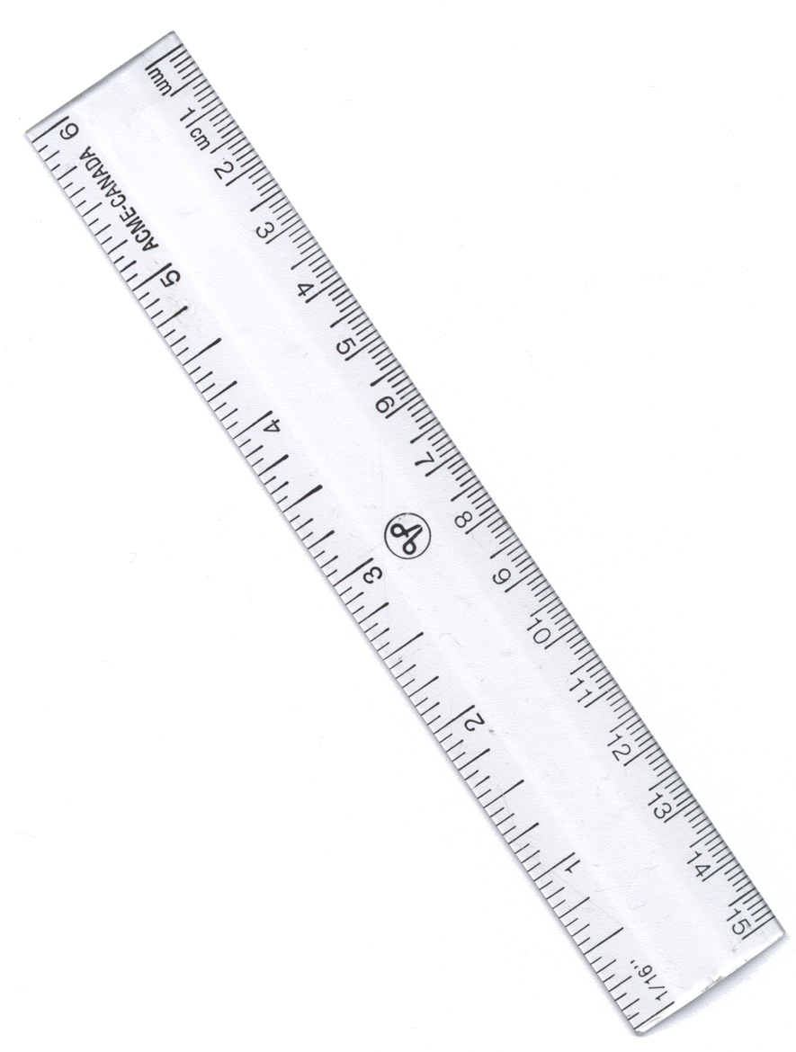 Measuring With A Ruler A ruler usually has a big