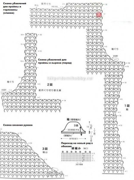 Схема Вязания Крючком Блузки