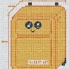 kawaii carry on luggage cross stitch chart