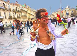 Clown sur la Comédie à Montpellier