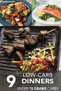 http://blog.myfitnesspal.com/9-low-carb-dinners-under-15-grams-of-carbs/?user_id=54449069133565&alt_source=mfp&alt_medium=email&alt_campaign=recipes20150601&utm_source=mfp&utm_medium=email&utm_campaign=recipes20150601&mkt_tok=3RkMMJWWfF9wsRokvqrLZKXonjHpfsX56%2B4tXa6wiokz2EFye%2BLIHETpodcMTsdgNq%2BTFAwTG5toziV8R7DBLM153N8QXRTg