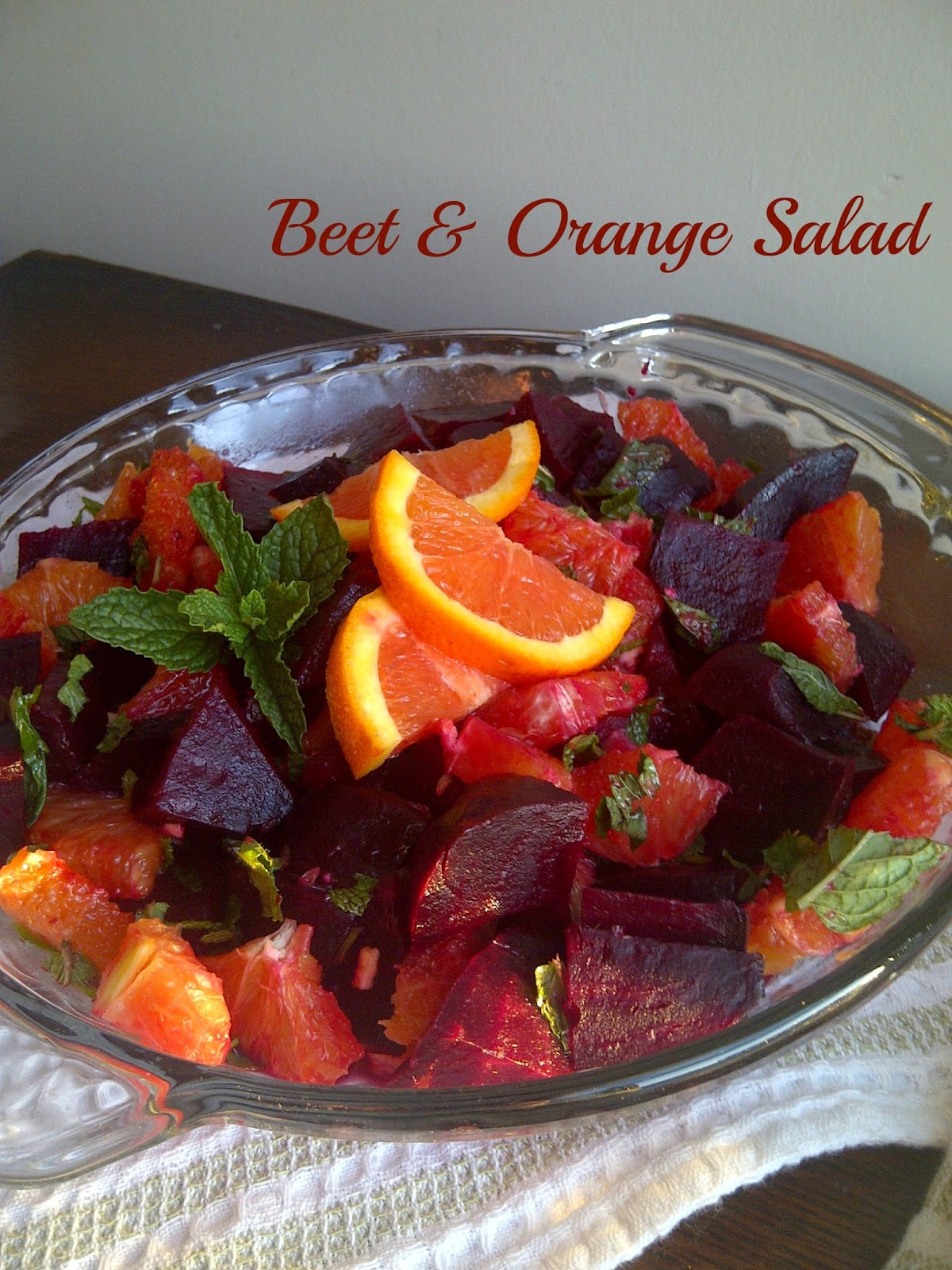 Beet & Orange Salad **skip the balsamic vinegar and use lime juice instead**