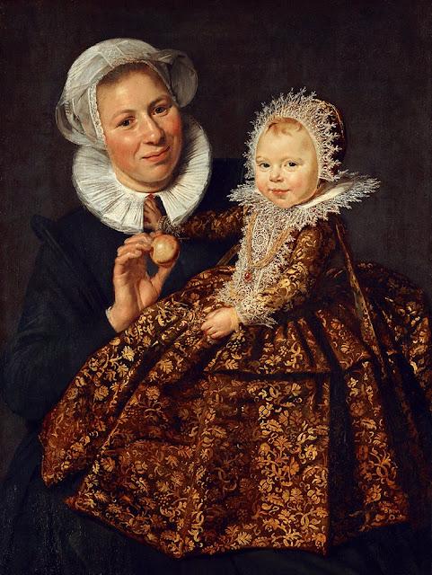 Portret van Catharina Hooft en haar min,Frans Hals,Baroque Painting