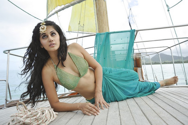Taapsee Pannu in green bikini