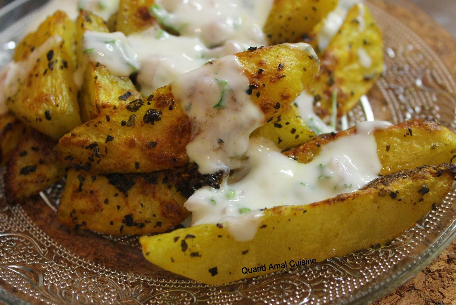 Potatoes au four croustillantes et sauce blanche l g re - Comment couper le basilic ...