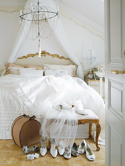 white etheral bedroom color bed chandelier linens