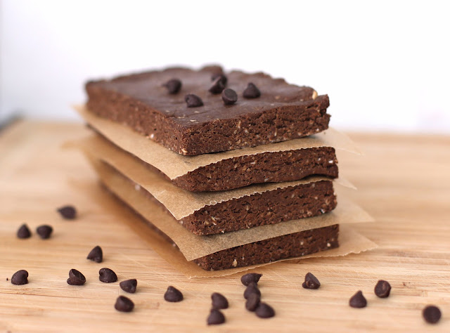 Chocolate Peanut Butter Fudge Brownie Protein Bars