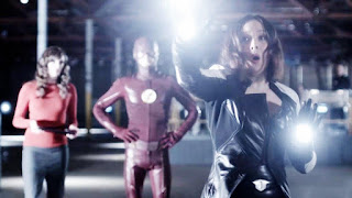 "Caitlin and Barry watching Linda practice being Dr. Light, from The Flash Season 2 Episode 6 ""Enter Zoom"""