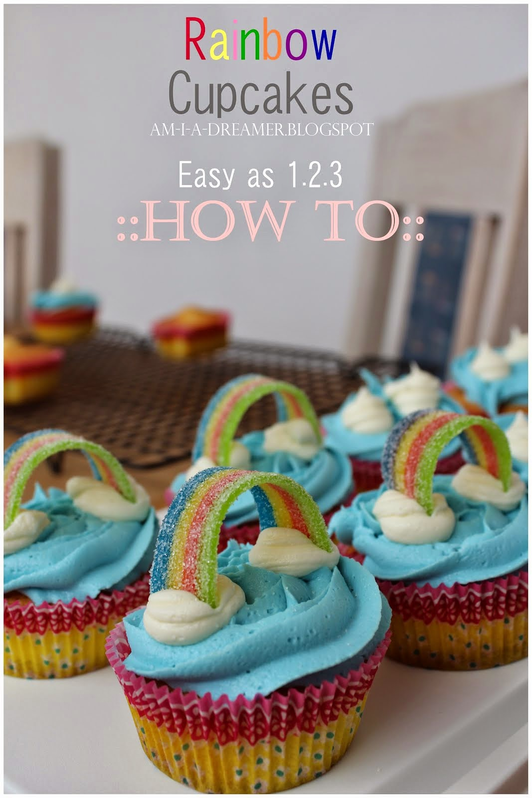 Rainbow Cupcake Tutorial