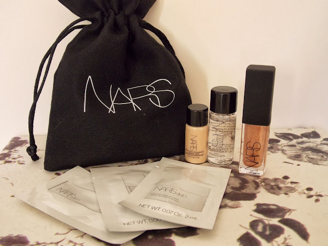 Nars products including Nars Skin, Makeup Removing Water and Lip Gloss in Gold Digger