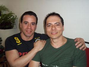 Fernando Alcântara de Figueiredo e Laci Araújo (Foto: Iara Lemos)