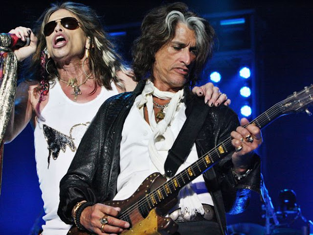 Joe and Steve live aerosmith