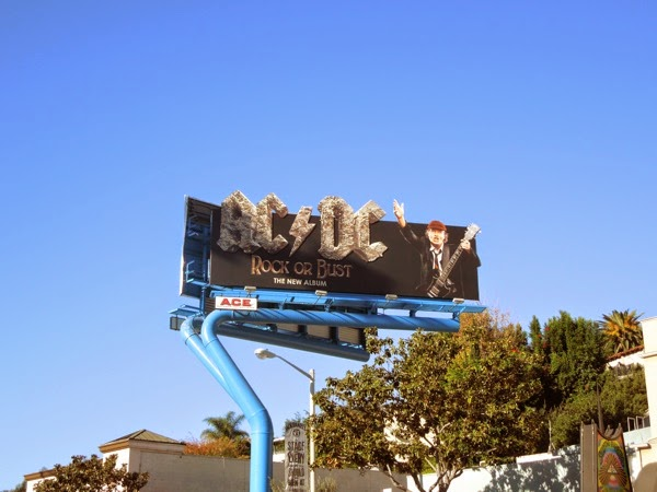 ACDC Rock or Bust album billboard Sunset Strip