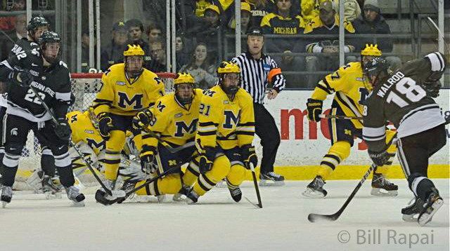 CCHA: Michigan Takes 4 Of 6 Points From State
