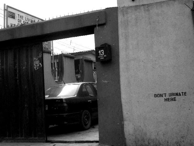 CA-don't urinate here - lagos / nigeria