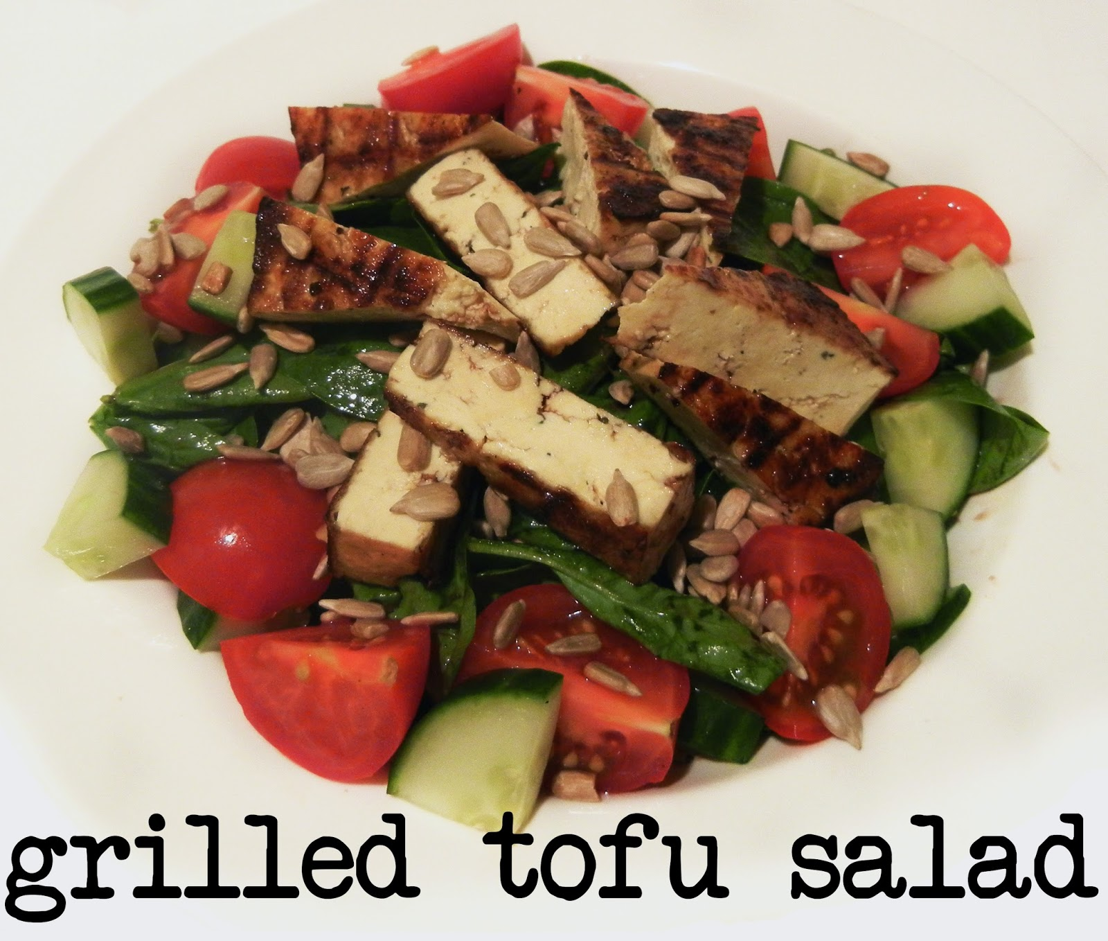 Derek's Kitchen: Grilled Tofu Salad