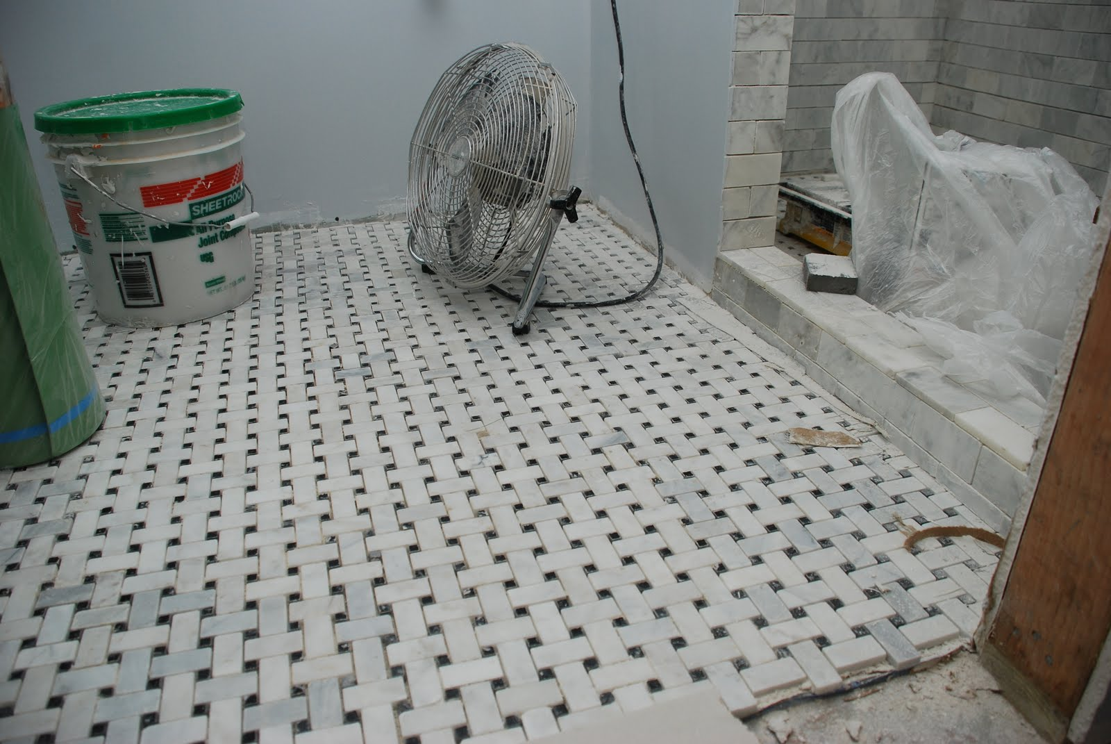 And Finally Yesterday They Started Building The Built In Shelves In