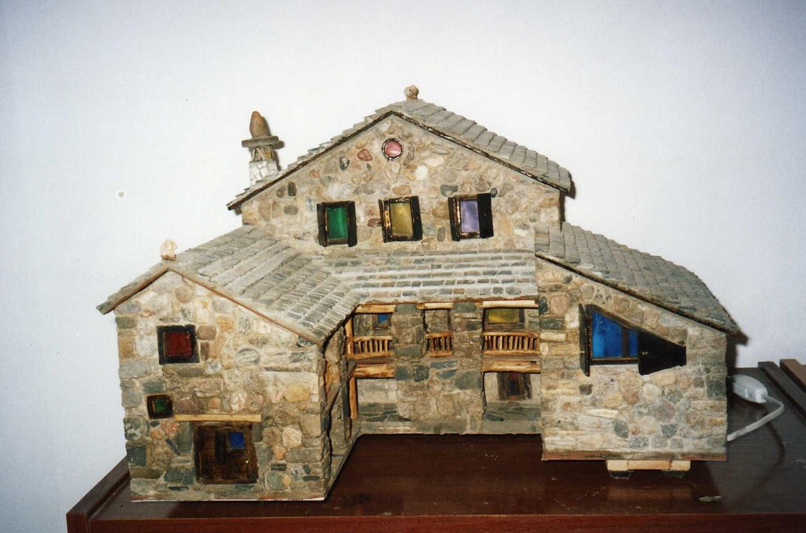 Casas de piedra en miniatura casa del pajar - Casas en miniatura de madera ...