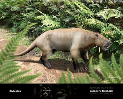 Eocene mammals Stylinodon