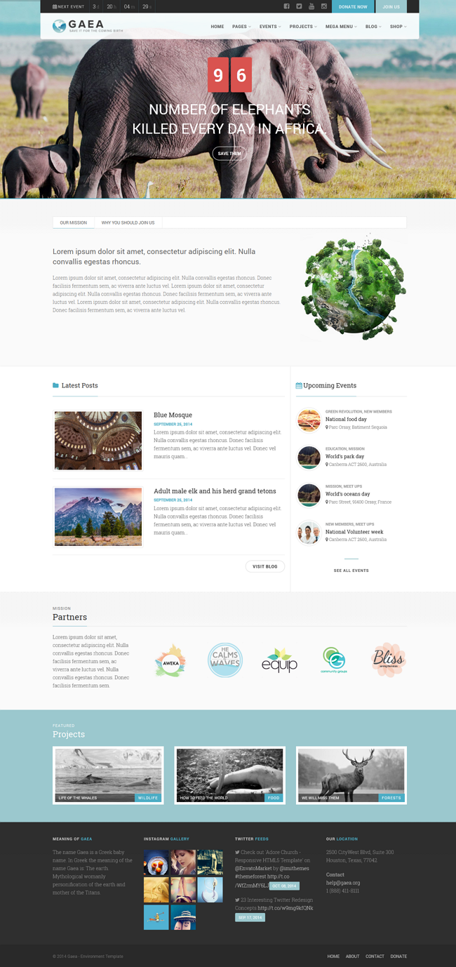 Charaty wordpress theme