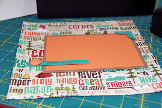 Layer cardstock and other embelishments to create your photo matte