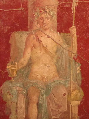 Fresco with Dionysus Enthroned (Painted Plaster, 50-70 A.D., House of Naviglio, Pompeii)