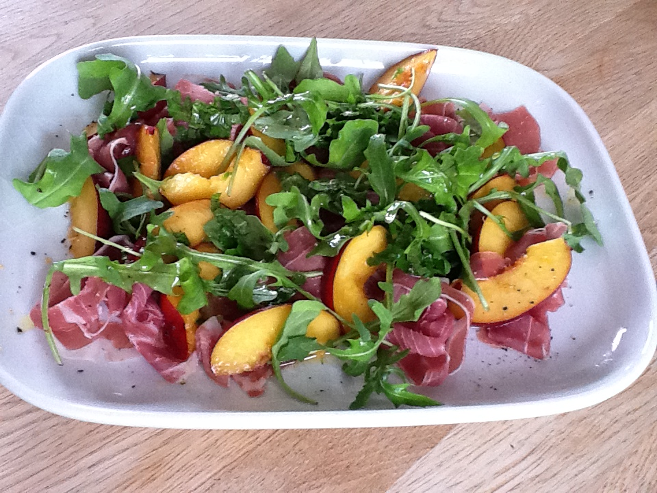 ... Easy Meals Challenge by Lynda: Day 59: Parma ham and nectarine salad