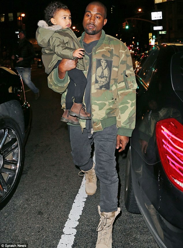 [Photos] Kanye West Matches His Jacket With His Daughter's, North West