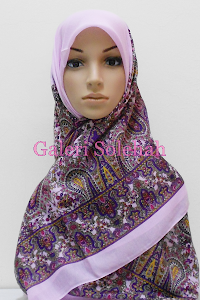 Tudung Miss Color Cotton Bidang 50 Paisley B