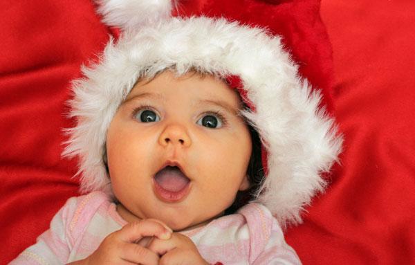 baby girl christmas santa