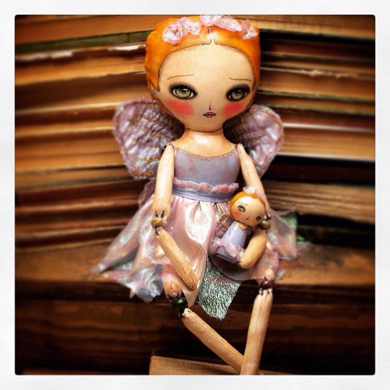 A New handmade fairy art doll by Danita Art, exclusively on danitaart.com