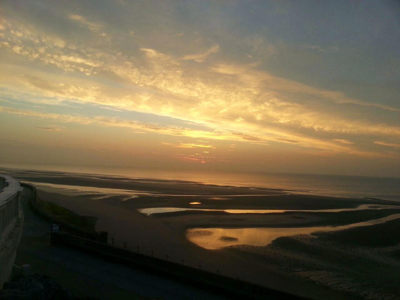Gorgeous sunset across Blackpool Beach