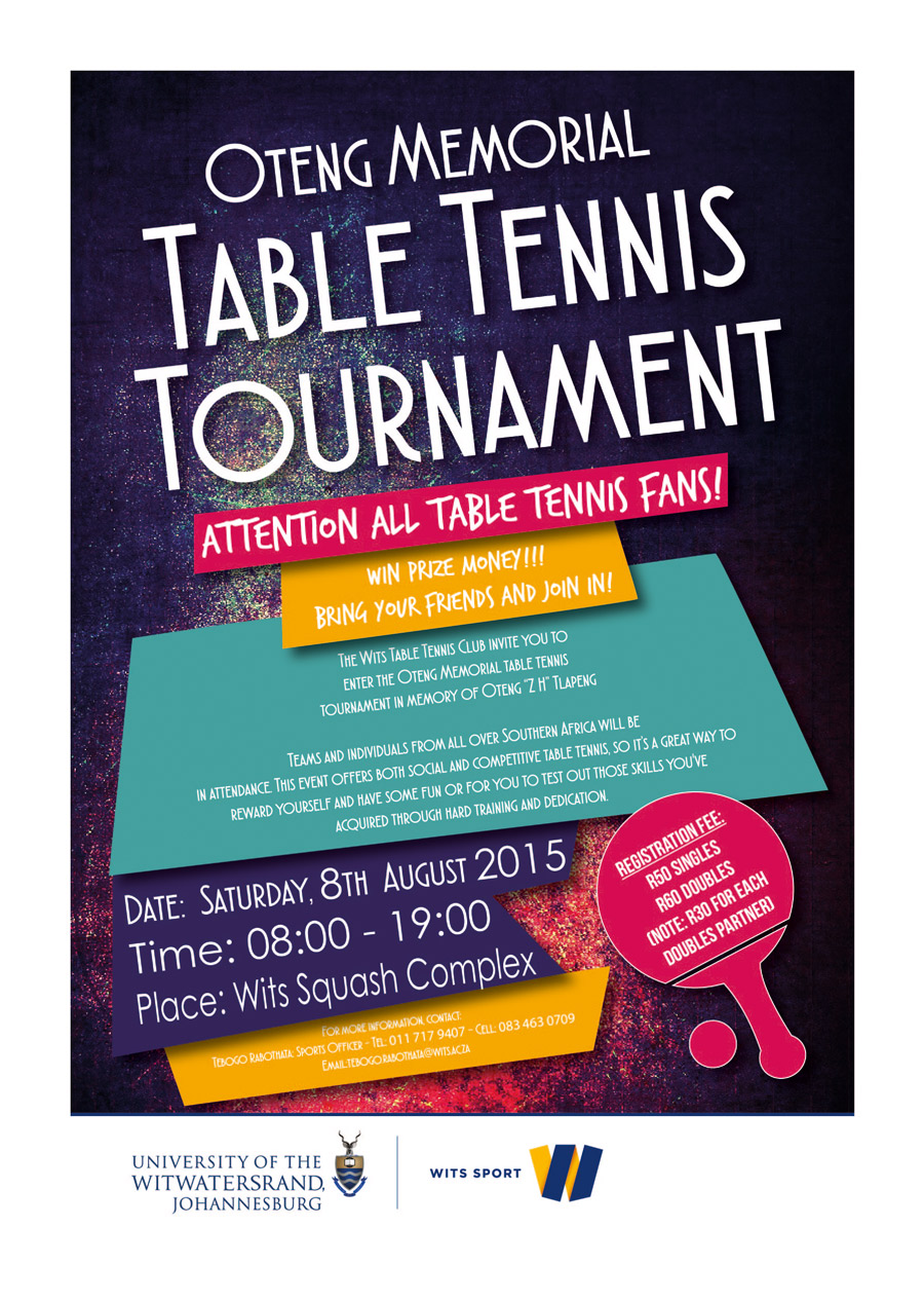 Alberton Table Tennis Club Oteng Memorial Table Tennis Tournament