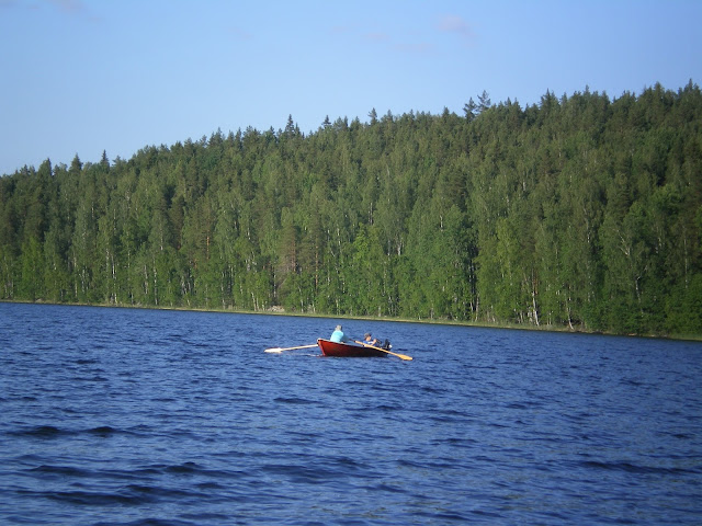 Rowing boat on lake Päijänne