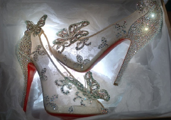 cindrella glass slippers