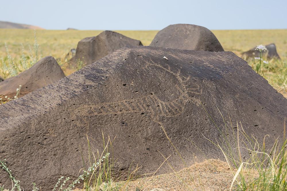 Pustynia Gobi - Rysunki na ścianach i kamieniach