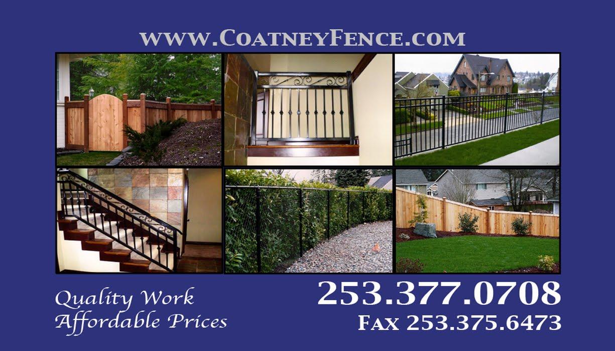 Coatney Designs Coatney Fence Business Cards