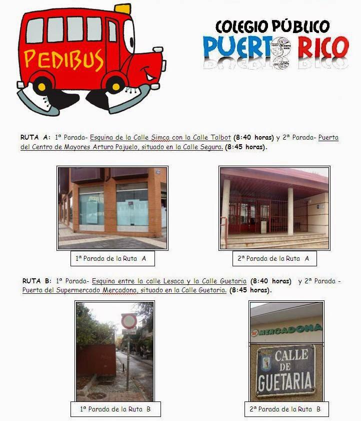 Pedibús del Colegio Puerto Rico