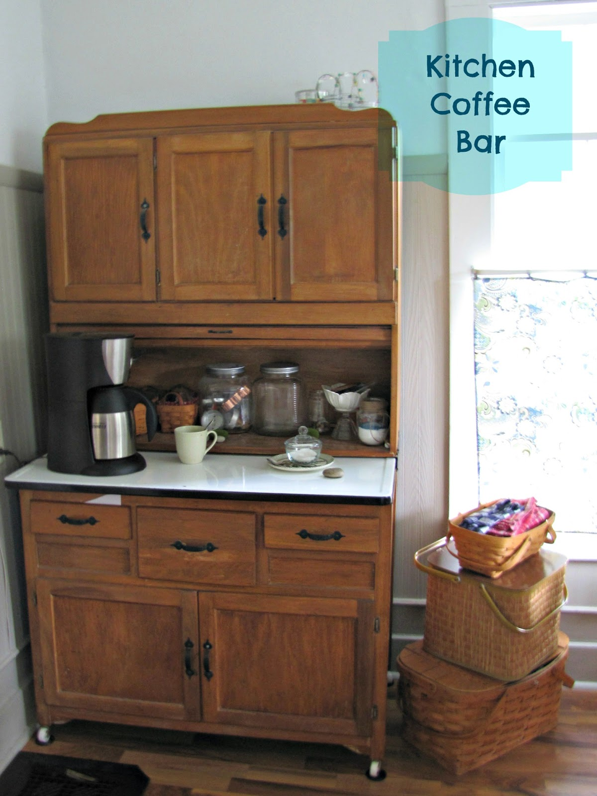 Kitchen Coffee Bar Hutch