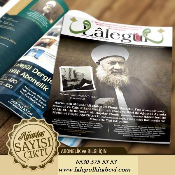 Lalegül Dergisi Agustos Sayisi