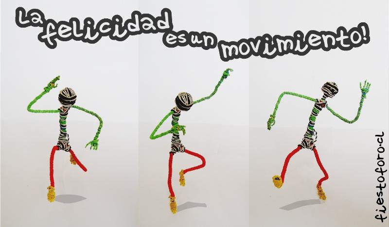 La felicidad es un movimiento, lo dice Adán Brito, muñeco de alambre