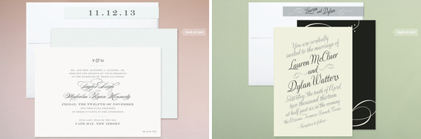 minted.com wedding invitations, wedding invitations online