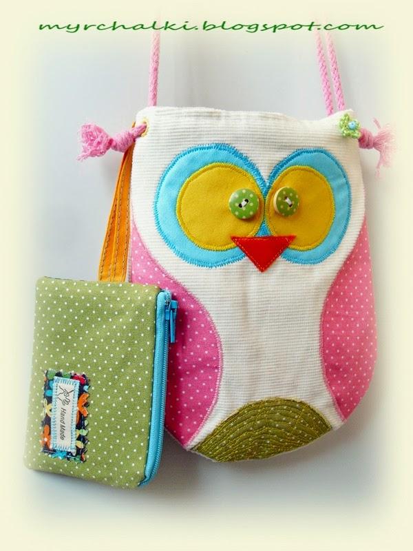 Детская сумочка сова своими руками 9