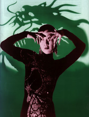Anna May Wong photo with dragon background